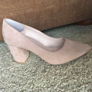 Kelly & Katie Suede Rosewell Chunky Pump